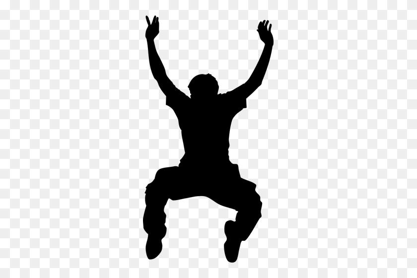 Black Man Silhouette Clip Art - Person Clipart Black And White