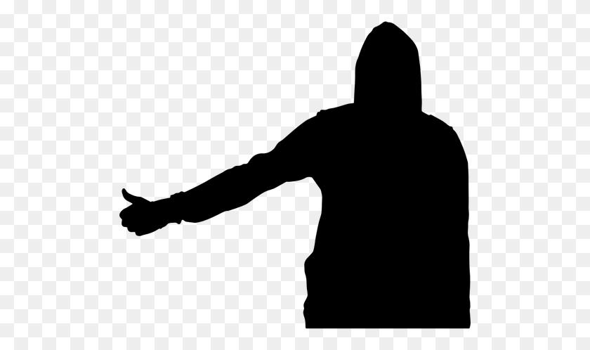 500x438 Black Man Silhouette Clip Art - Man Silhouette Clipart