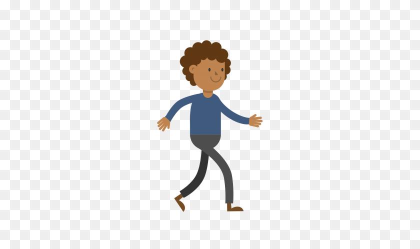 Black Man Walking Cartoon Vector - People Cartoon PNG
