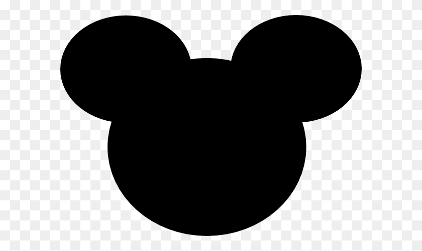 Black Mickey Mouse Ears Clip Art - Mickey Ears Clipart