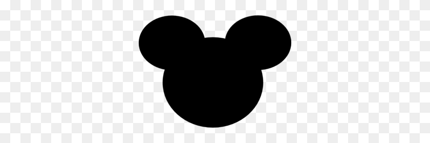 Black Mickey Mouse Ears Clip Art - Mouse Ears Clipart