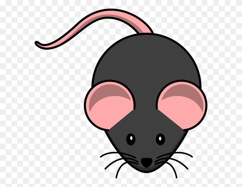 Black Mouse Pink Ears Clip Art - Animal Ears Clipart