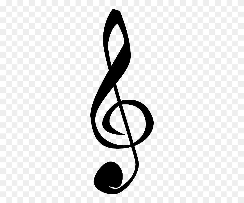 Black, Music, Note, Symbol, Cartoon, Symbols, Bass - Music Note Symbol Clipart