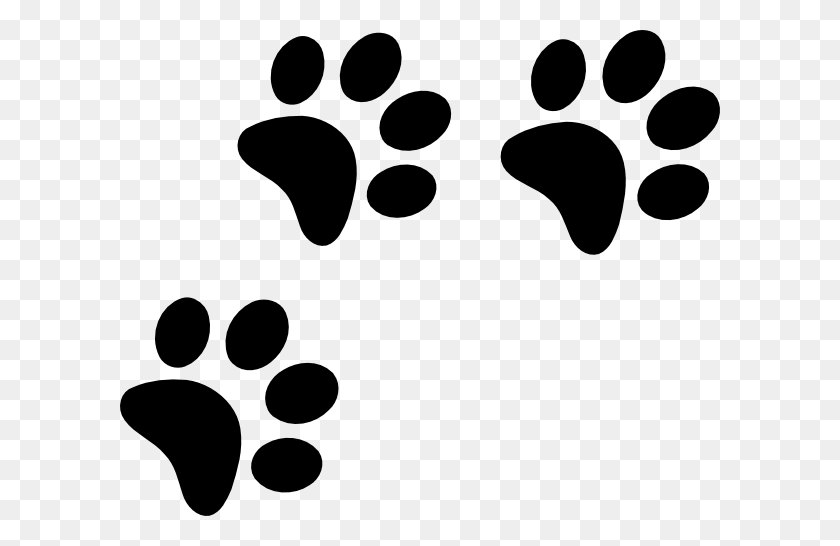 Black Paws Clip Art - Paws PNG