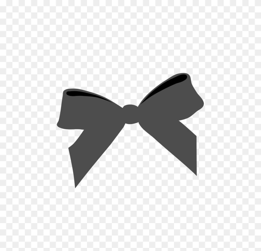 Black Ribbon Bow Tie Awareness Ribbon - Ribbon Bow Clipart