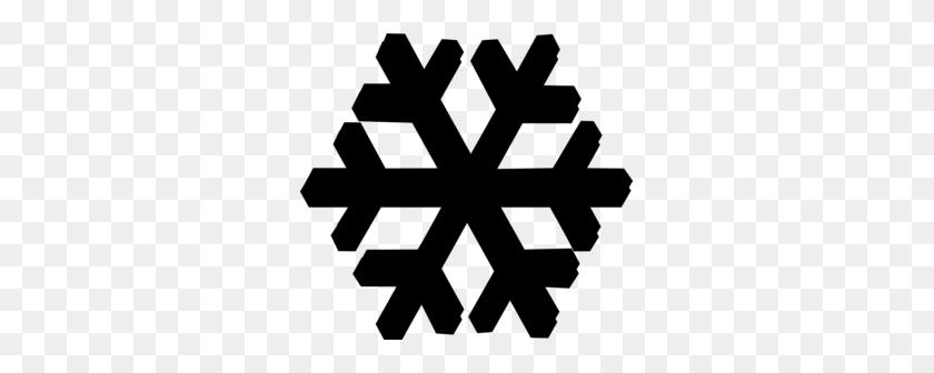 Black Snow Flake Clip Art - Snow Clipart Black And White