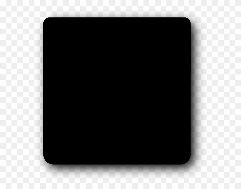 Black Square Rounded Corners Clip Art - Black Rectangle PNG