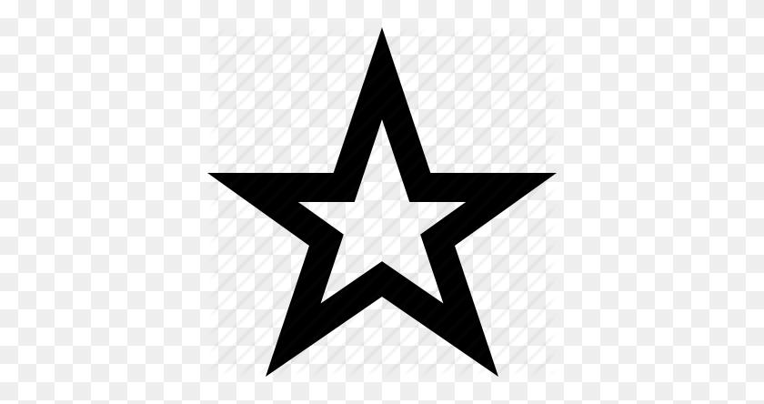 Black Star Outline Trendnet - Star Outline PNG