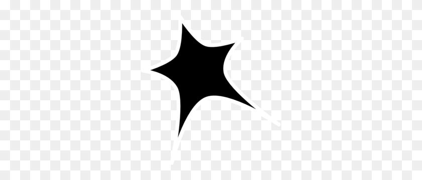 Black Star White Outline Clip Art - Black Stars PNG