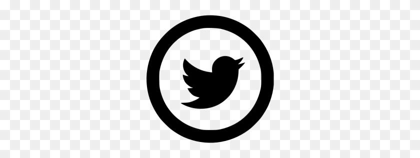 Black Twitter Icon - Twitter White Logo PNG