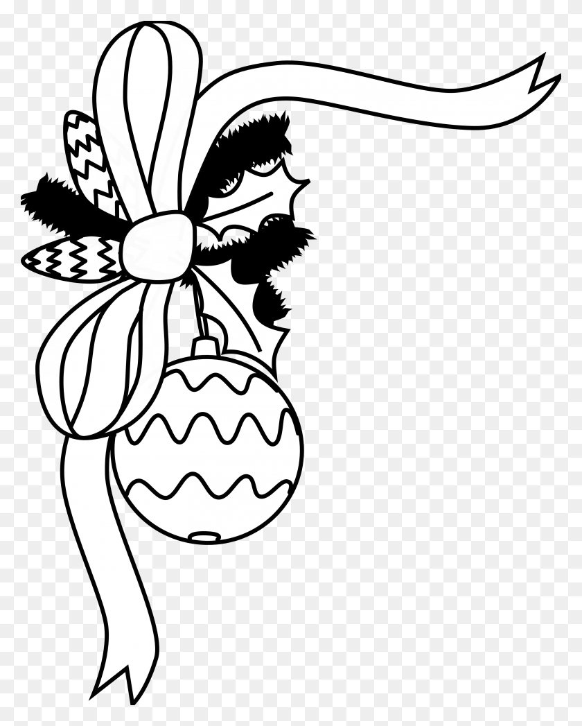 Black White Clipart Christmas - Merry Christmas Clip Art