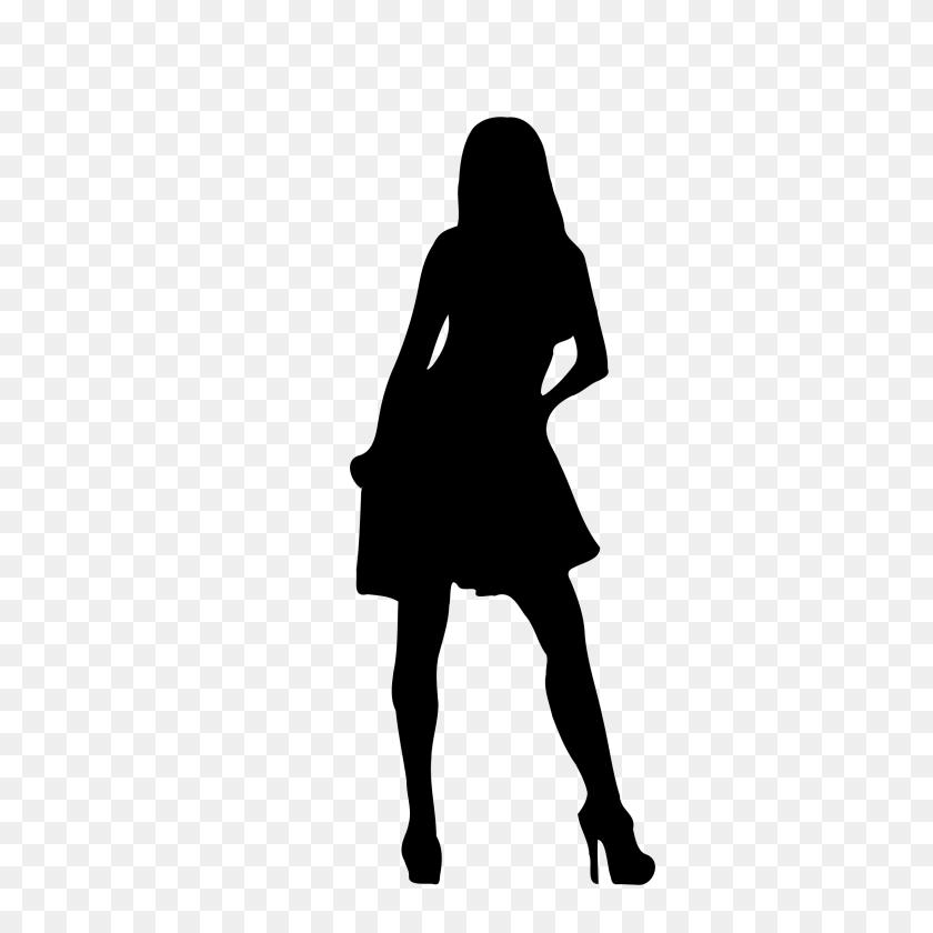 2400x2400 Black Woman Silhouette Clip Art Clip Art - Woman Clipart Black And White