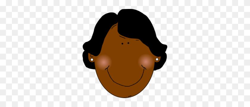 285x299 Black Woman White Background Clip Art - Woman Clipart Black And White