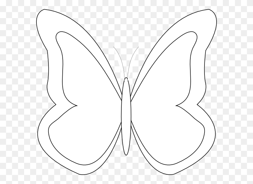 Blank Butterfly Template With Butterfly Clipart Butterfly Outline - Simple Butterfly Clipart