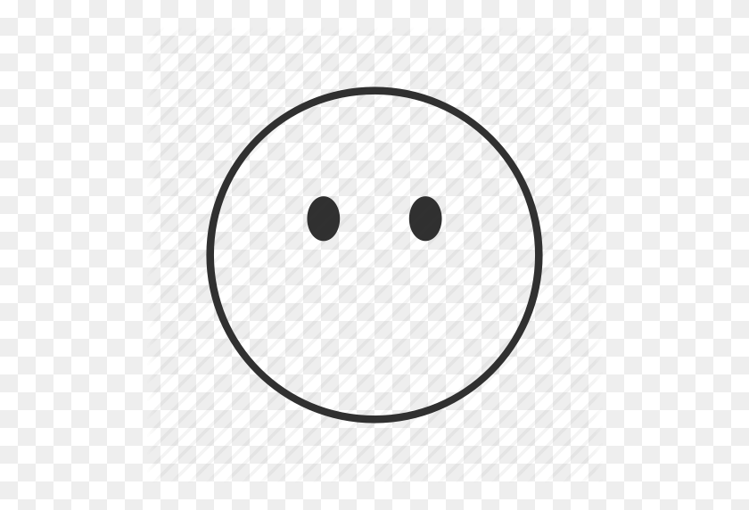 Blank Face, Emoji, Emotionless, Emotionless Face, Face Without - No Face PNG