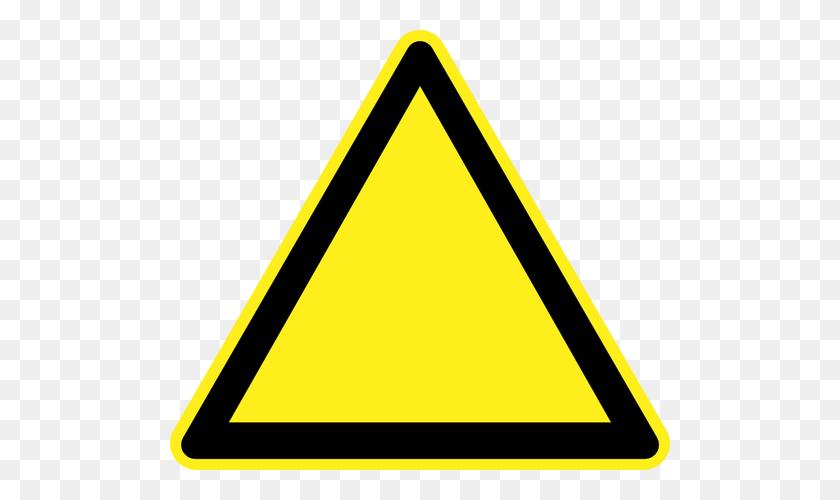 Blank Hazard Warning Sign Vector Image - Blank Road Sign PNG