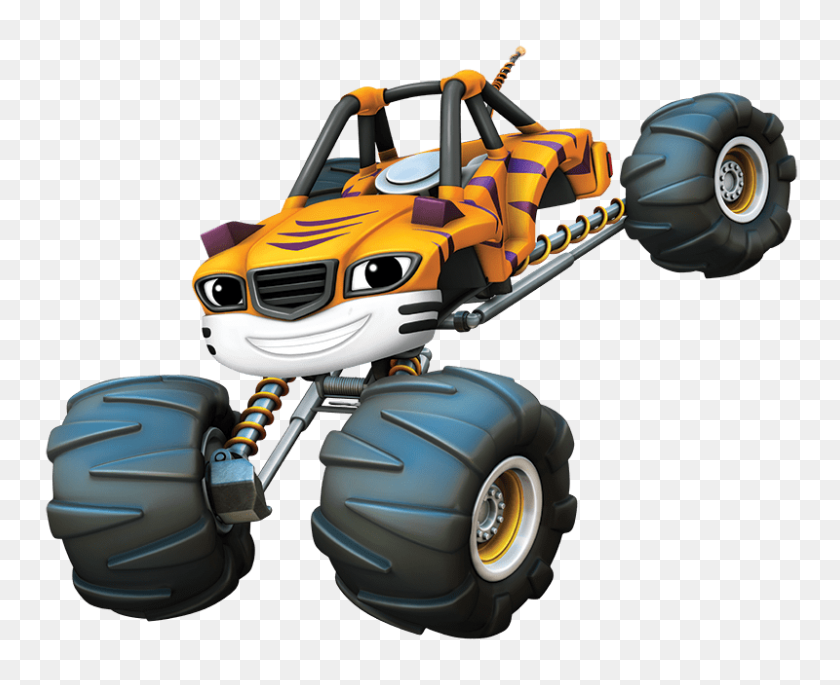 800x642 Blaze And The Monster Machines Stripes Transparent Png - Monster Truck PNG