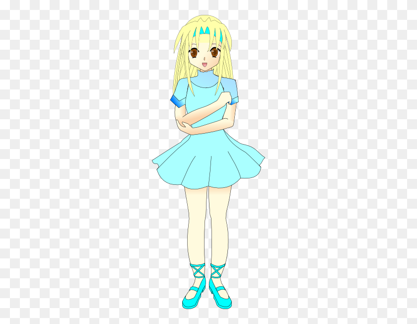 Blonde Manga Character Clip Arts Download - Manga Clipart