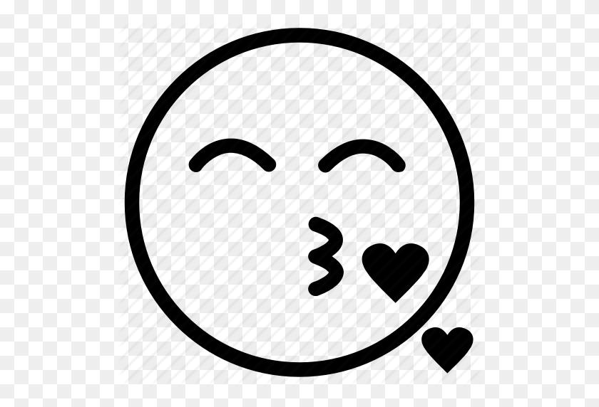 Blow Kiss, Heart, Kiss, Kiss Emoji, Love Icon - Kiss Emoji PNG