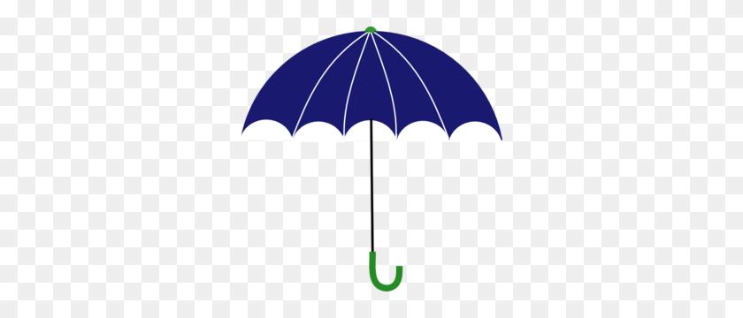 Blue And Green Umbrella Clip Art - 60s Clipart