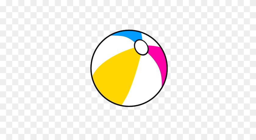 Blue And White Beach Balls - Beach Volleyball Clipart