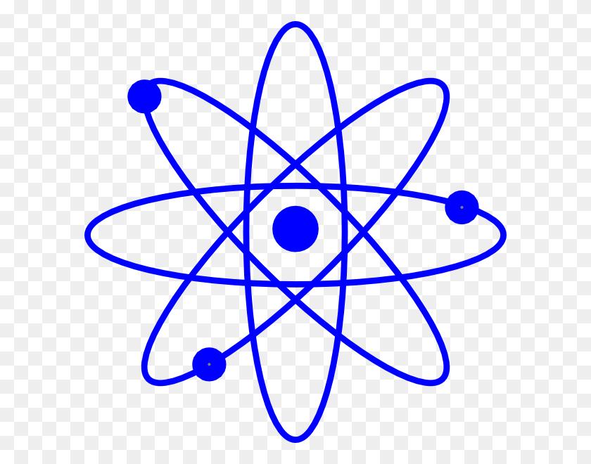 Blue Atom Clip Art - Atom Clipart