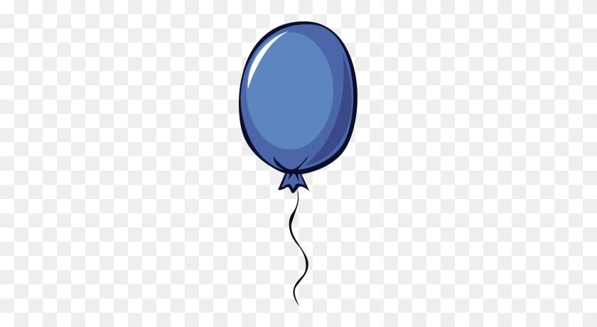 167x400 Blue Balloon Clipart - Free Clipart Birthday Balloons