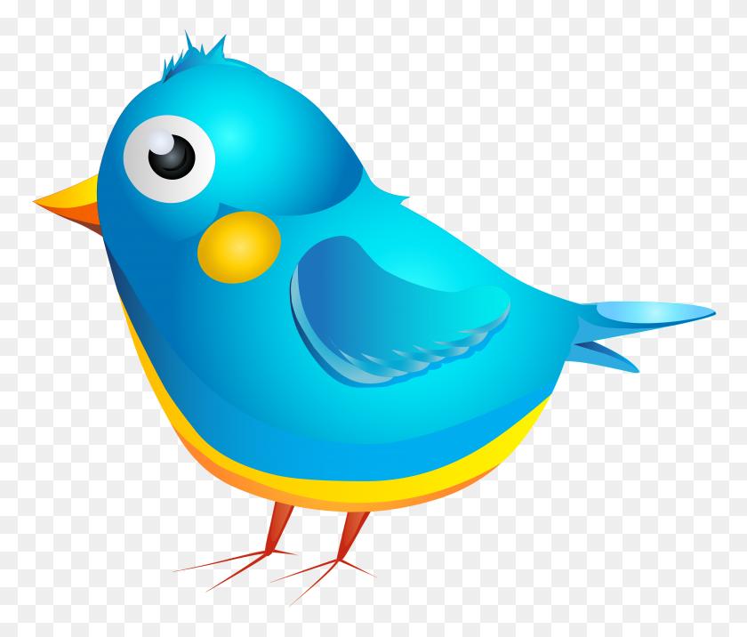 Blue Bird Cartoon Transparent Png - Cartoon Bird PNG