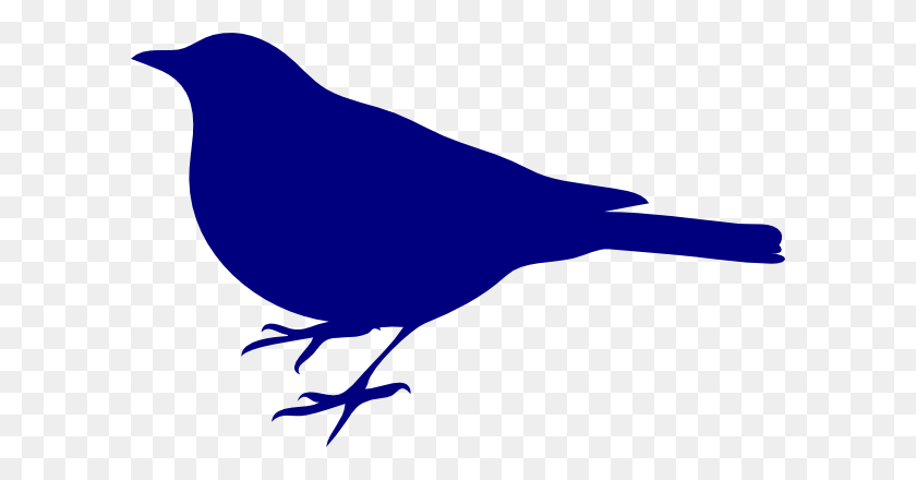 Blue Bird Silhouette Clip Art - Mountain Silhouette Clip Art