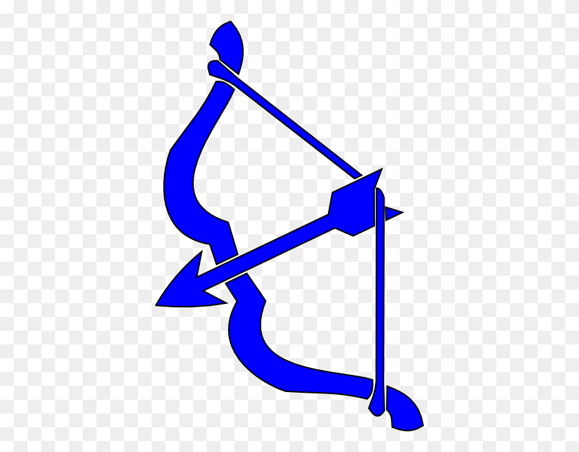390x596 Blue Bow N Arrow Png, Clip Art For Web - Arrow Clipart PNG