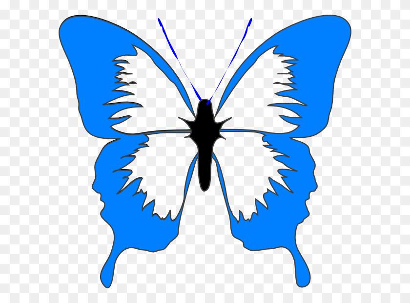Blue Butterfly Clip Art - Cartoon Butterfly Clipart