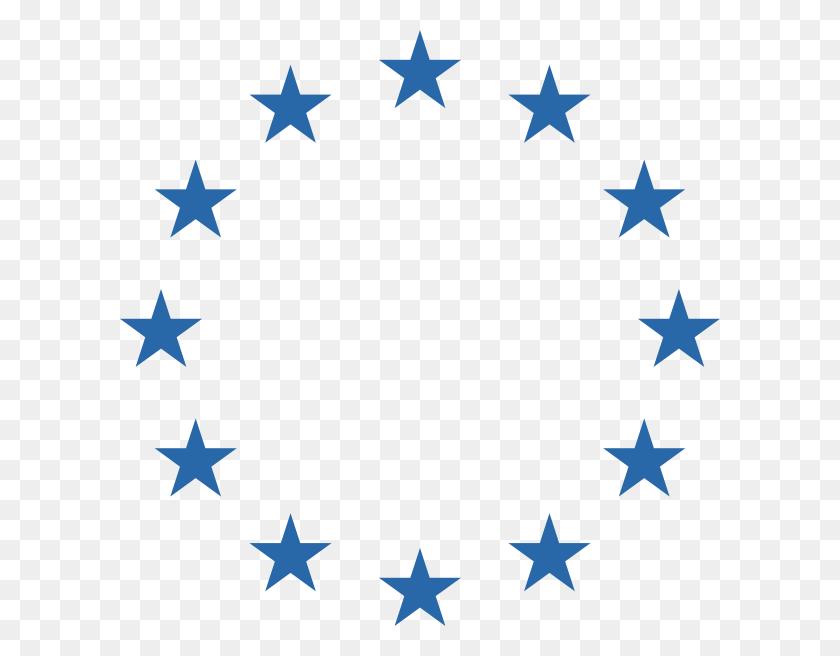Blue Circle Stars Clip Art - Stars Clipart PNG