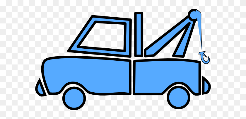 Blue Clipart Lorry - Semi Truck Clipart