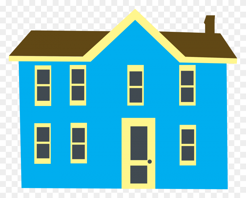 2220x1760 Blue Country House With Porch And Chimney Rural Cottage Download - Porch Clipart