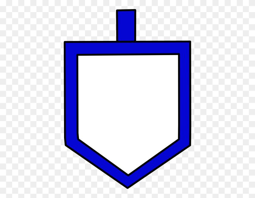 Blue Dreidel Shape Clip Art - Dreidel Clipart