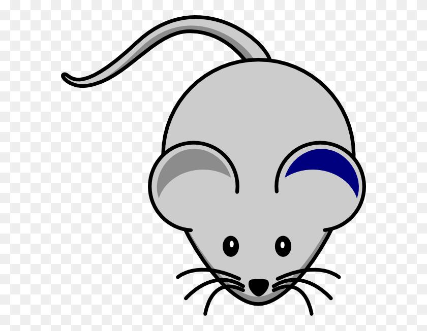 Blue Ear Mouse Clip Art - Animal Ears Clipart