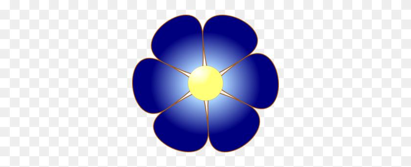 Blue Flower Clip Art - Single Flower Clipart