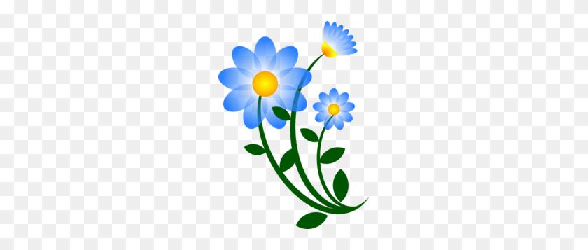 216x297 Blue Flower Clip Art - Sympathy Clipart