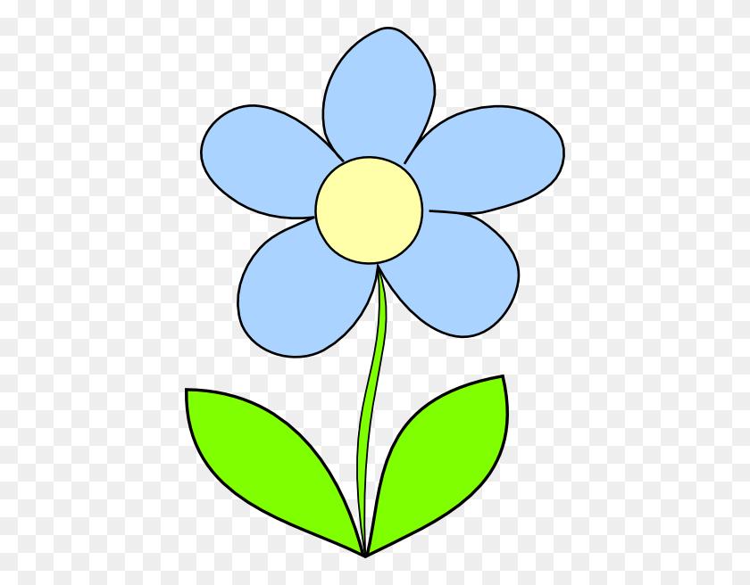 Blue Flower Clipart Large Flower - Transparent Flower Clipart