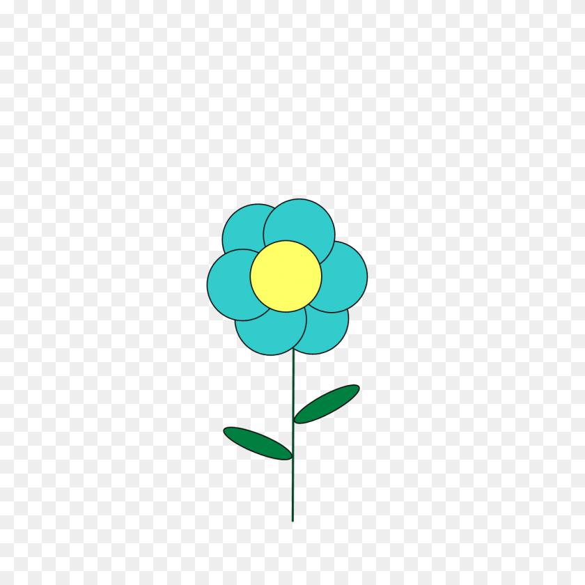 Blue Flower Clipart Little Flower - Blue Flower PNG
