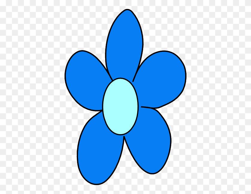 Blue Flower Clipart Single Flower - Transparent Flower Clipart