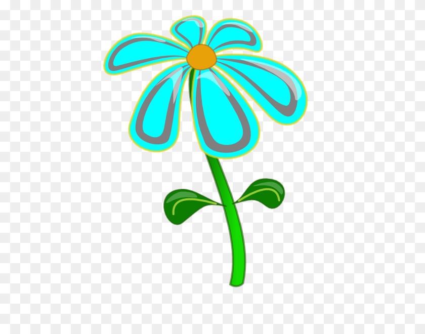 Blue Flower Clipart Tall Flower - Forget Me Not Flower Clipart