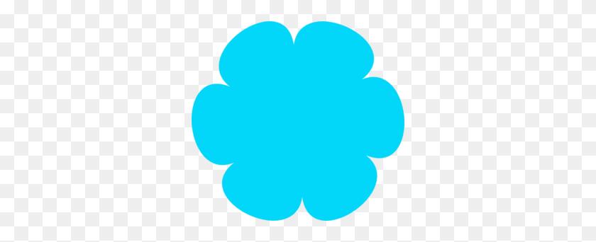 Blue Flower Divider Clipart - PNG Divider