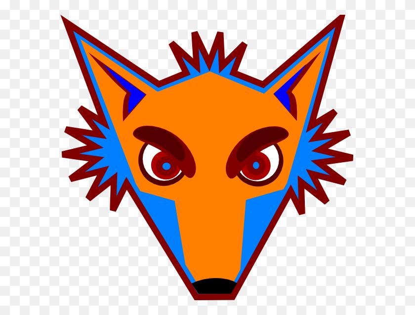 Blue Fox Head Png, Clip Art For Web - Fox Clipart PNG