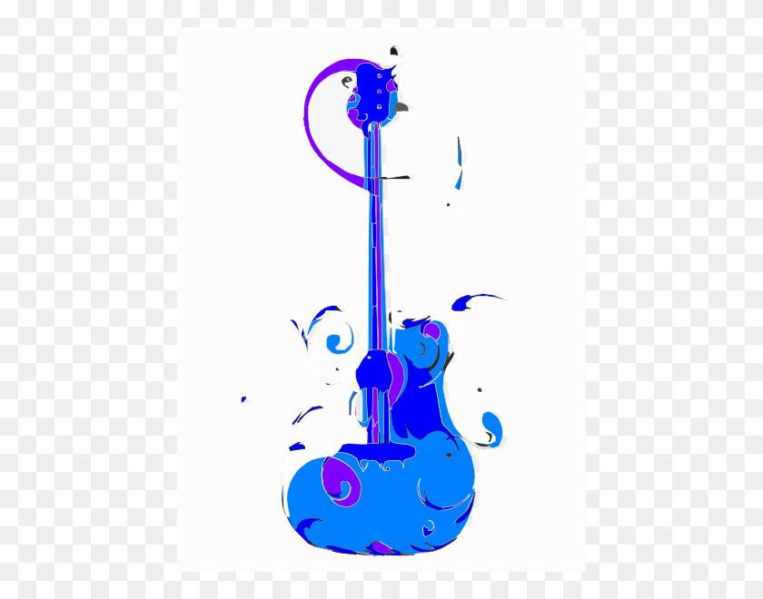 Blue Guitar Clip Art - Playing Guitar Clipart