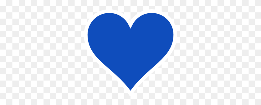Blue Heart Clip Art, Free Download Clipart - Love Heart Clipart