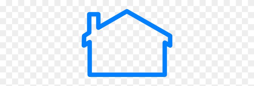 Blue House Clip Art - House Clipart Outline