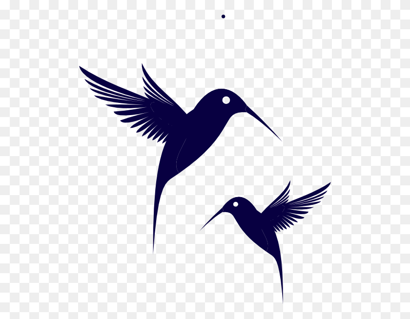 Blue Humming Bird Clip Art - Bird Vector PNG