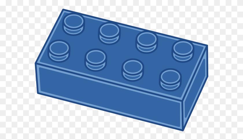 Blue Lego Block Hi - Lego Block PNG