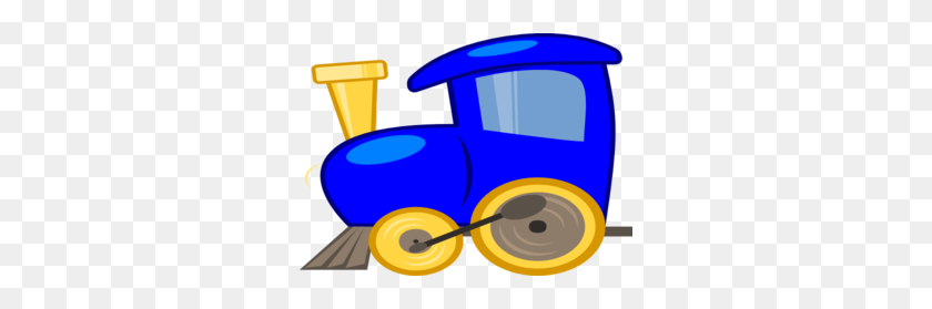 Blue Loco Train Clip Art - Toy Train Clipart